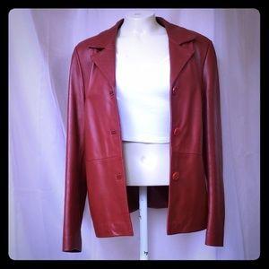 Vera Pelle | Genuine Italian Red Leather Jacket